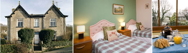 Plumtree House bed and breakfast near Kendal in The Lake District
